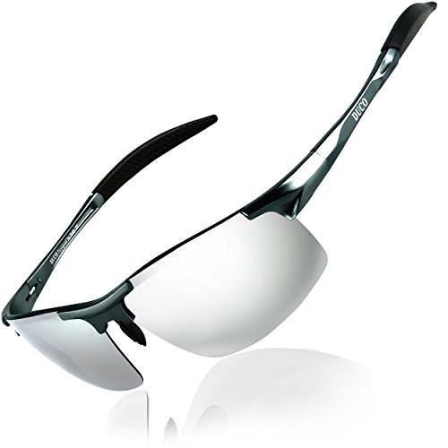 DUCO Herren Sportbrille Polarisierte Sonnenbrille Fahrerbrille 8177S...