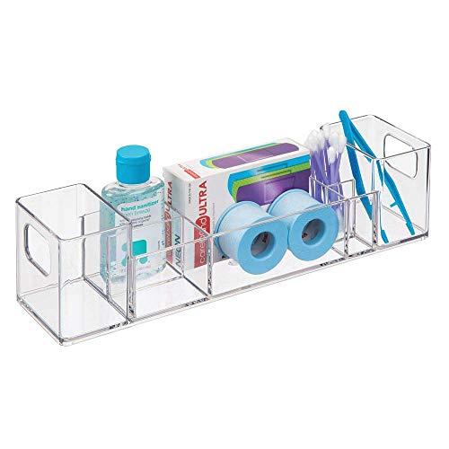 iDesign Badezimmer Organizer, Aufbewahrungsbox aus Kunststoff mit 8...