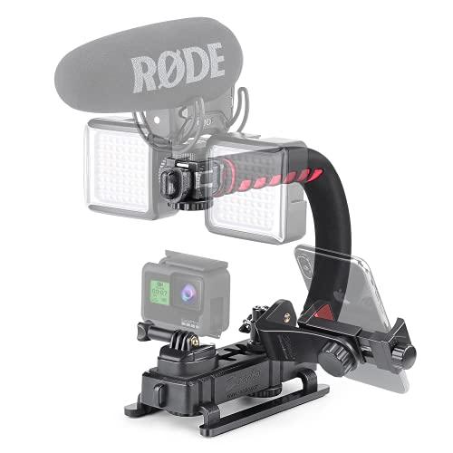 Zeadio Tripel Zubehörschuh Handheld Stabilisator, Video Aktion...