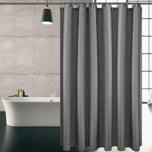 KIPIDA Duschvorhang Textil, Anti-Schimmel, Wasserdichter, Waschbar...