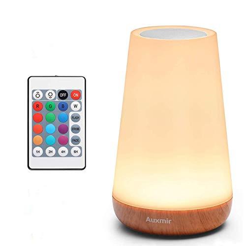 Auxmir LED Nachttischlampe, Dimmbar Atmosphäre Tischlampe mit...
