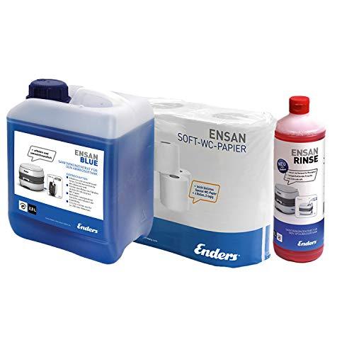 Enders Soft WC-Papier Selbstauflösend + Ensan Rinse + 2,5 L Ensan...