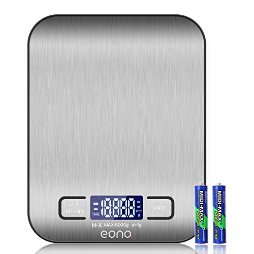 Amazon Brand – Eono Digitale Küchenwaage, Premium...