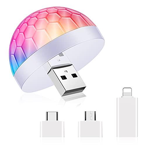 USB Mini Disco Ball Licht DJ Ball USB Party Blitzlicht LED Atmosphäre...