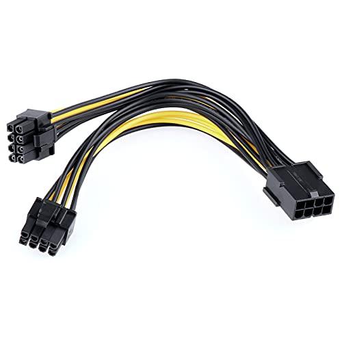 Baoblaze 1x Grafikkarten Stromadapter Kabel 8-polig zu PCIe 2X...