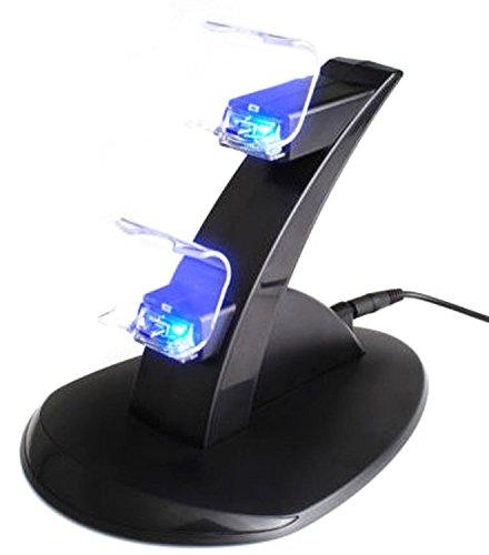 NuoYa005 USB LED Lade Dock Station stehen für Dual Playstation 4 PS4...