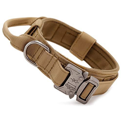 Huntvptaktisch Hundehalsband Verstellbar mit Kontrollgriff, aus...
