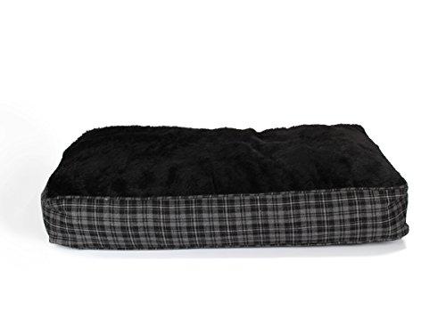 SAUERLAND Hundekissen XXL extra dick, 120x85 cm, grau/schwarz,...