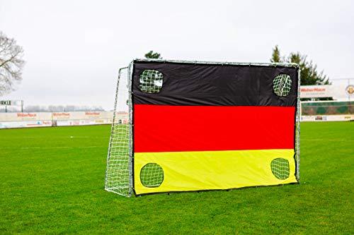 POWERSHOT Fußballtor 3 x 2m aus Stahl, Klicksystem und Zubehör -...