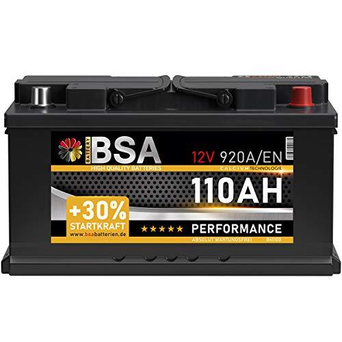 BSA Autobatterie 110Ah 12V 920A/EN Batterie +30% Startleistung ersetzt...
