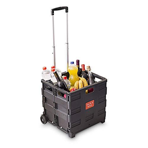 Relaxdays Einkaufstrolley, Klappbar, Einkaufsroller bis 35 kg,...