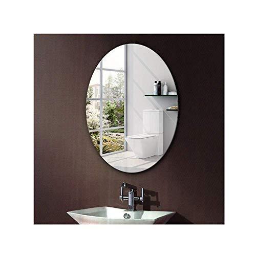 Taschen- und Armbanduhr Ovaler Badezimmerspiegel Rahmenlose Paste...