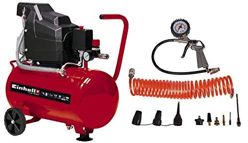 Einhell Kompressor TC-AC 190/24/8 Kit (max. 8 bar, 24 l-Tank,...