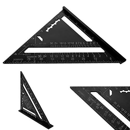 7'Quadratisches Dreieckslineal, Aluminium-Layout-Messwerkzeug für...