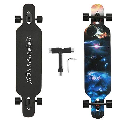INNOWEIGH 41 Zoll Longboard Skateboard Through Freestyle Longboard...