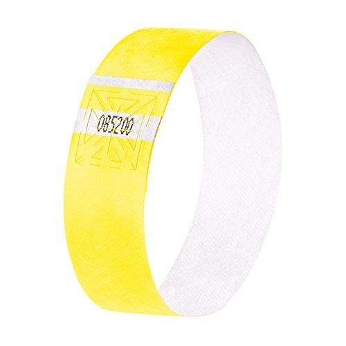 SIGEL EB218 Eventbänder Super Soft, Gelb fluoreszierend, 120 Stück