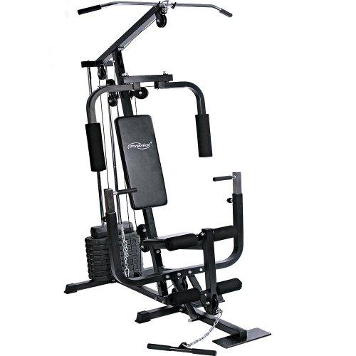 Physionics® Kraftstation - mit 40kg Gewichten, verstellbar, Latzug,...