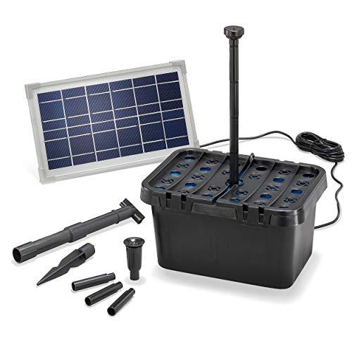 Solar Teichfilter Komplettset Professional - 380 l/h Förderleistung +...