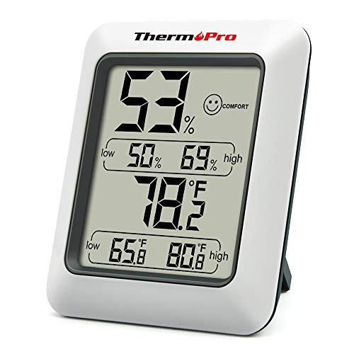 ThermoPro TP50 digitales Thermo-Hygrometer Hygrometer Innen...