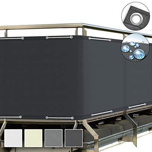 Sol Royal SolVision Balkon Sichtschutz Anthrazit PB2 PES blickdichte...