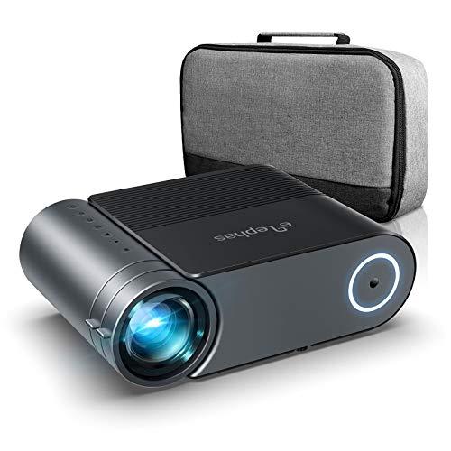 Mini Beamer, ELEPHAS 7000 Lumen Heimkino Video Beamer 1080P Full HD...