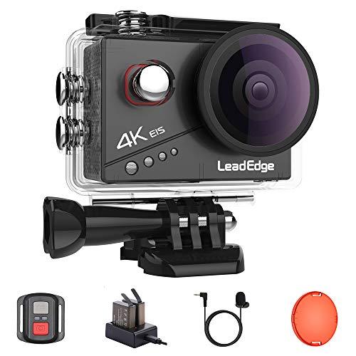 LeadEdge Action Cam 4K 20MP EIS Anti-Shake Externes Mikrofon Rotfilter...