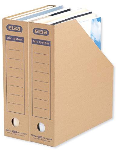 ELBA Stehsammler Pappe, tric system,mit Archivaufdruck, naturbraun,...