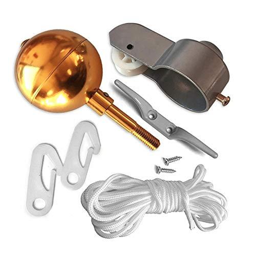 mlloaayo Reparatursätze für Fahnenmast-Hardware-Teile, vergoldete...