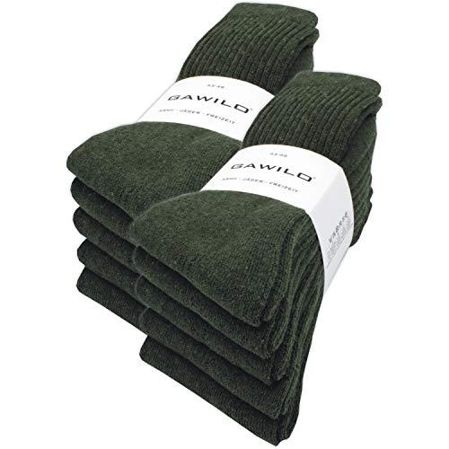 GAWILO 10 Paar stabile Army - Jäger - Freizeit Socken aus...