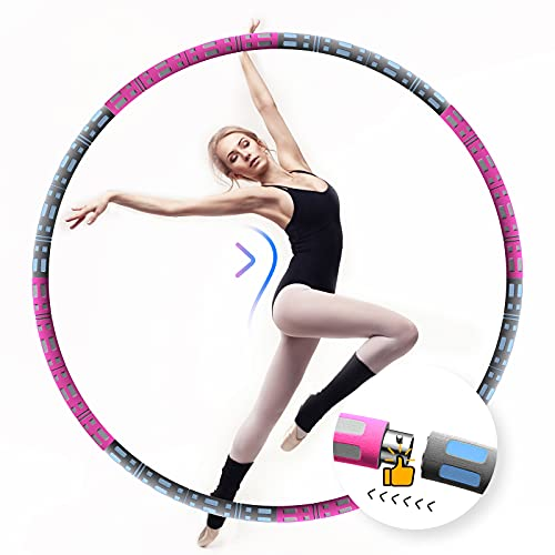 Aikove Hula Hoop Adult 95 cm Hula Hoop in 8 Removable Sturdy Stainless...