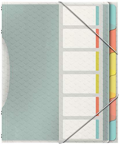 Esselte Colour'Ice Ordnungsmappe, A4, 6 Fächer, PP, Mehrfarbig,...