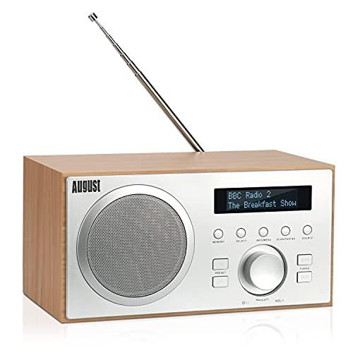 DAB+/FM Radio mit Bluetooth-August MB420-Digitales Küchenradio mit...