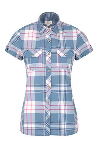 Mountain Warehouse Holiday Baumwollhemd für Damen - Kurzärmliges...
