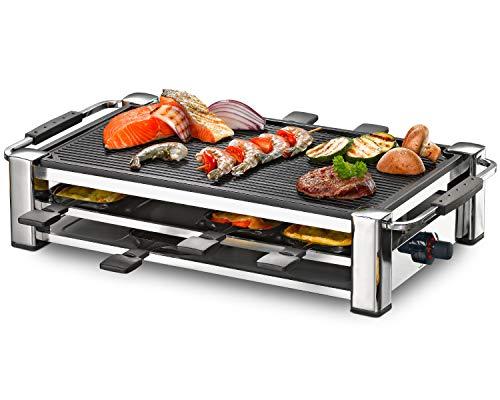 ROMMELSBACHER RCC 1500 Raclette-Grill (extra langes Kabel (2m),...