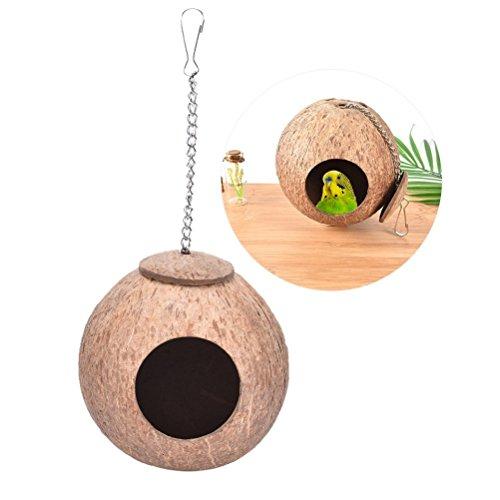 Natürliches Kokosnuss-Vogelnest, Nest für Papagei, Sittiche,...