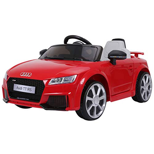HOMCOM Kinderfahrzeug Elektroauto Fernbedienung MP3 3–6 Jahre PP Rot...