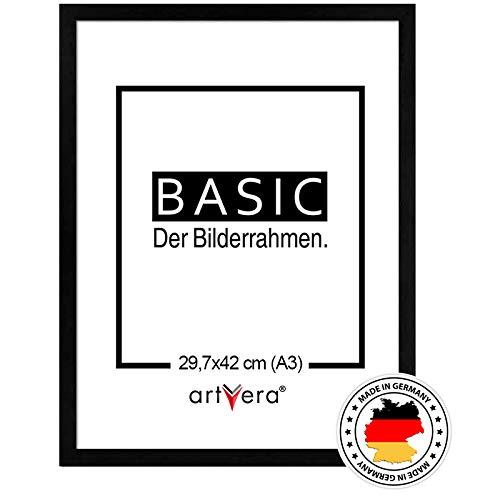 artvera Basic Holz Bilderrahmen Schwarz DIN A3 (29,7x42 cm)