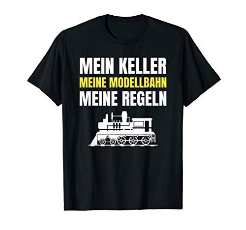 Mein Keller Lokomotive Geschenk Zubehör Modelleisenbahn T-Shirt