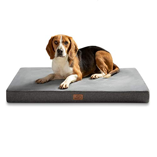 Bedsure orthopädische Hundekissen große Hunde - Flauschiges...