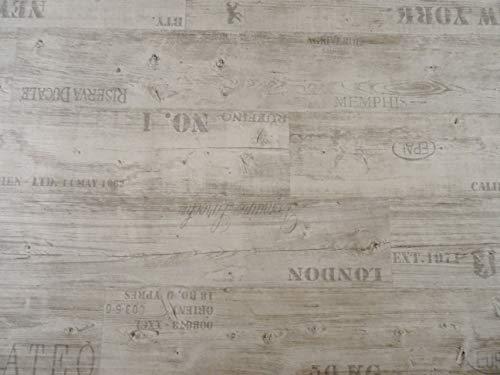 PVC Bodenbelag Vinylboden mit Schriftzügen, weiß (9,95€/m²),...