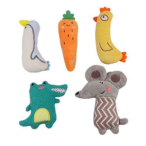 AMO HERMOSO 5 Stück Katzenminze Spielzeug für Katzen, Kick...