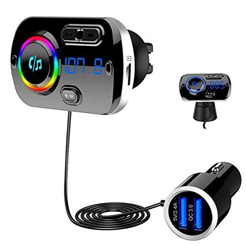 Bluetooth 5.0 FM Transmitter, SONRU Auto Bluetooth Radio Adapter...