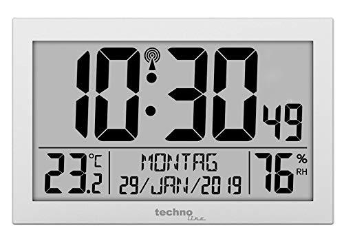 Technoline WS8016 WS 8016 Funk-Wand-Uhr mit Temperaturanzeige,...