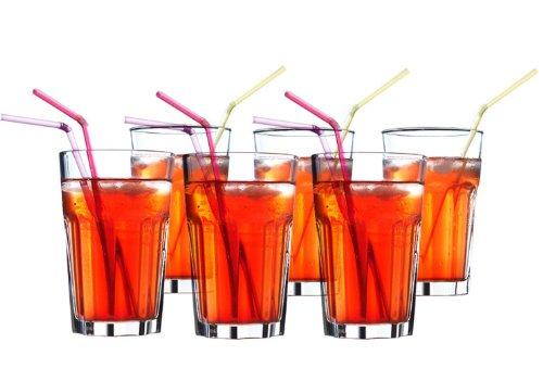 IKEA 6-er Set Gläser POKAL stapelbares Glas für Cocktail Longdrink...
