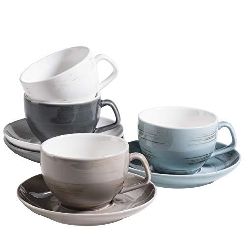 MÄSER 931609 Serie Derby Premium Kaffeetassen Set für 4 Personen in...