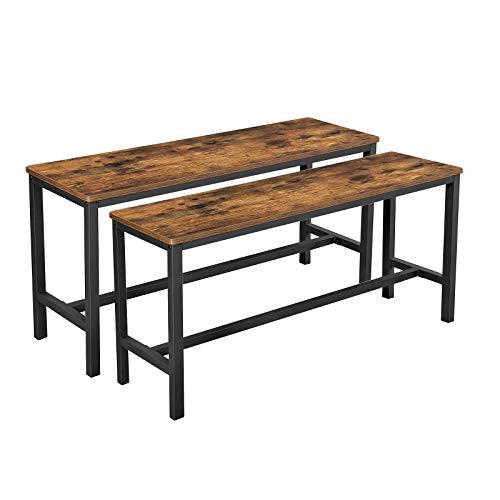 VASAGLE Sitzbänke für Esszimmertisch, 2er Set, Küchenbänke,...