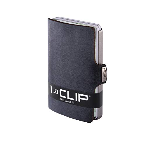 I-CLIP Original Silver Soft Touch Black, Geldbörse, Kartenetui,...