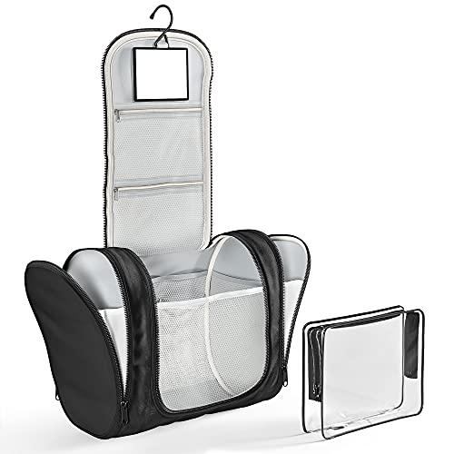 Kulturbeutel Kosmetiktasche zum Aufhängen mit transparenter Reise...