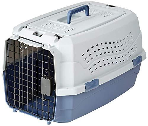 Amazon Basics Transportbox für Haustiere, 2 Türen, 1 Dachöffnung,...