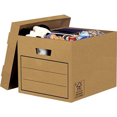 Bankers Box Aufbewahrungskarton mit Deckel aus stabiler B-Flute...